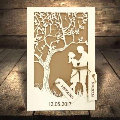 Partecipazione matrimonio albero della vita