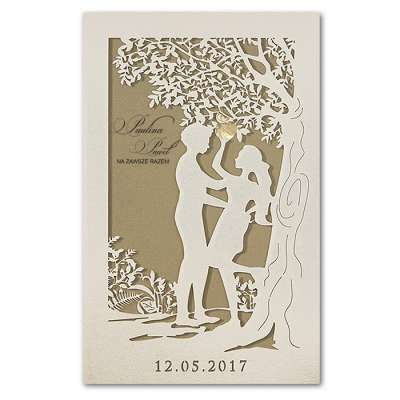 Partecipazione Matrimonio Albero Della Vita F1395tz