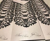 partecipazioni matrimonio laser bianco e nero