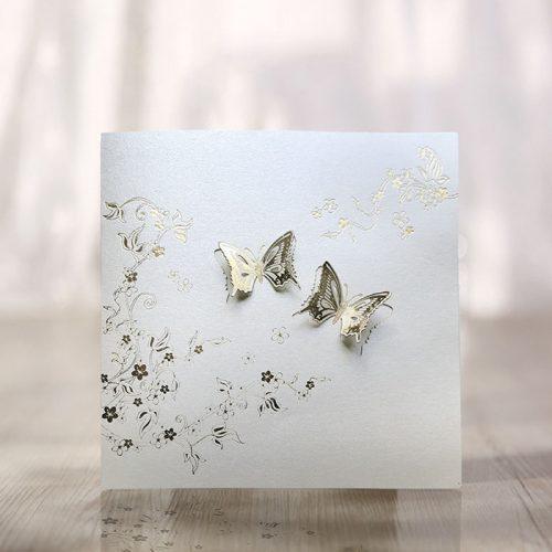 Partecipazioni Matrimonio Farfalle.Partecipazione Matrimonio Classico F069 45 03 Partecipazioni