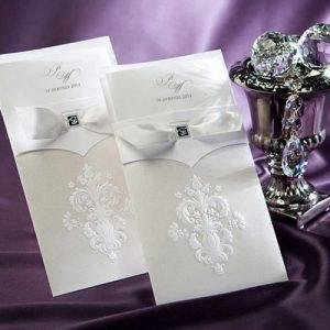partecipazione matrimonio elegante