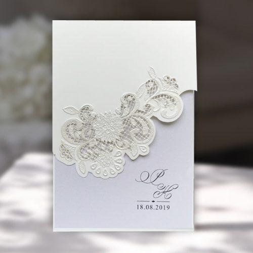 Partecipazioni Eleganti Matrimonio.Partecipazione Matrimonio Romantico F1266tz Partecipazioni