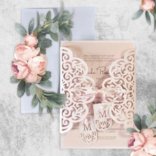 Partecipazione matrimonio laser – F1498 – Partecipazioni Matrimonio